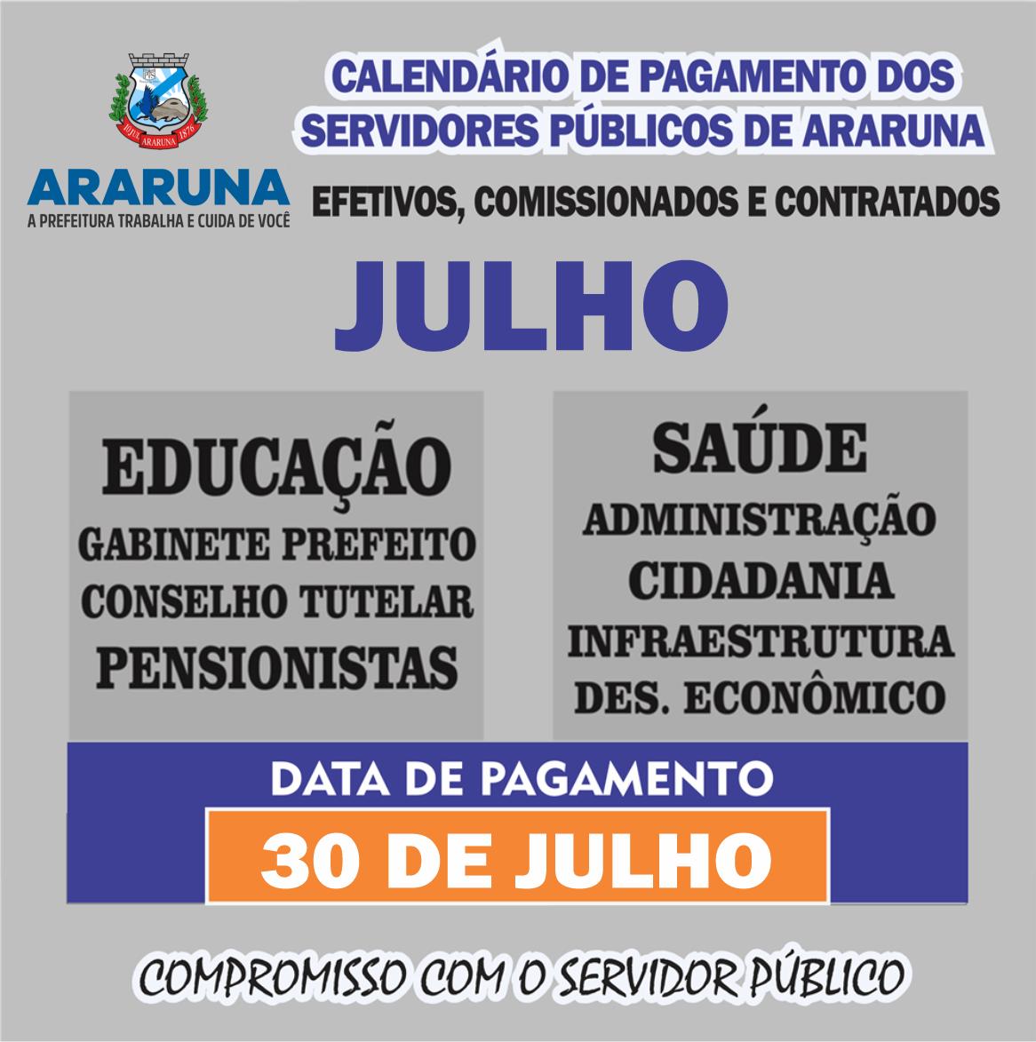 Prefeito de Araruna anuncia pagamento de todos os servidores referente ao mês de Julho