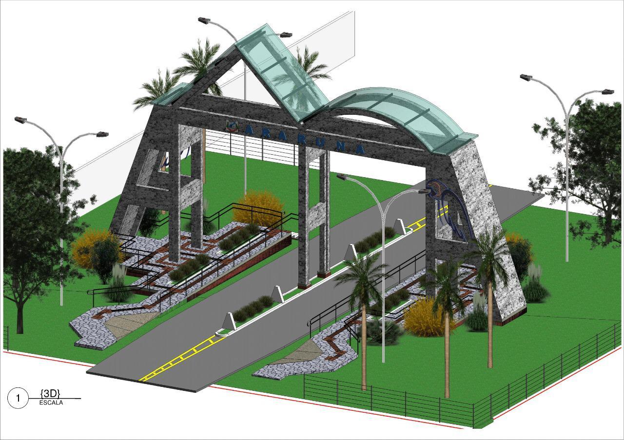 Prefeito Vital Costa anuncia licitação para construção de Portal na entrada da cidade de Araruna