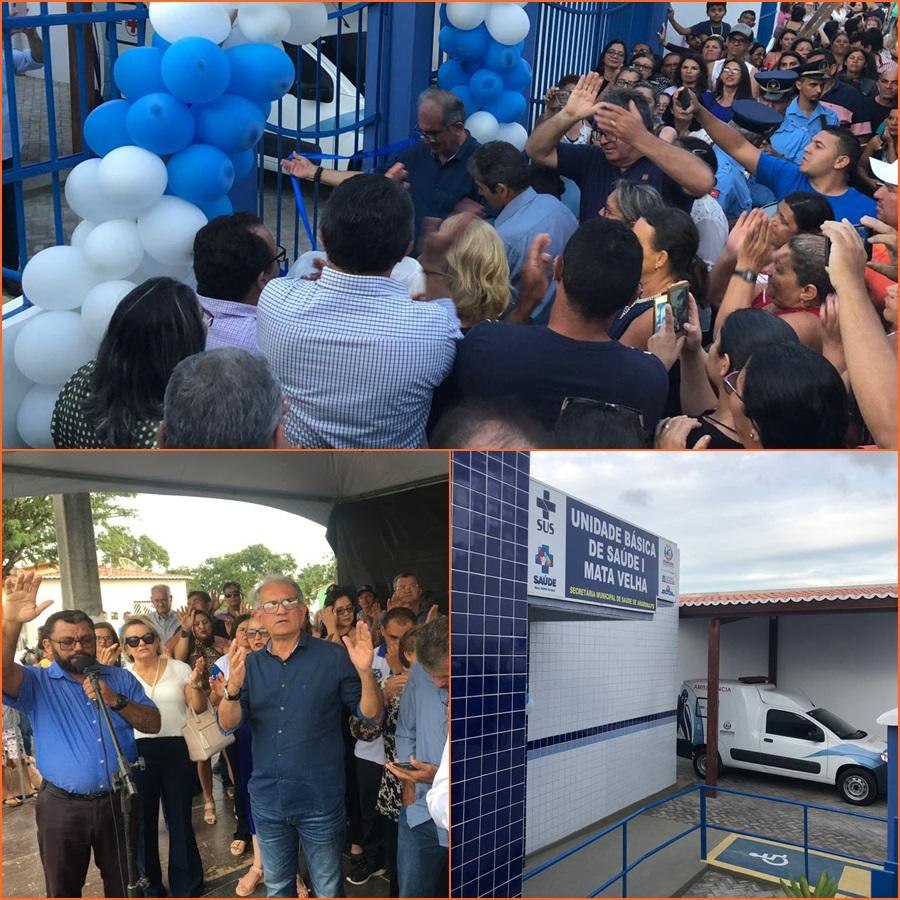 Prefeito Vital Costa inaugura reforma de UBS e entrega ambulância na comunidade de Mata Velha