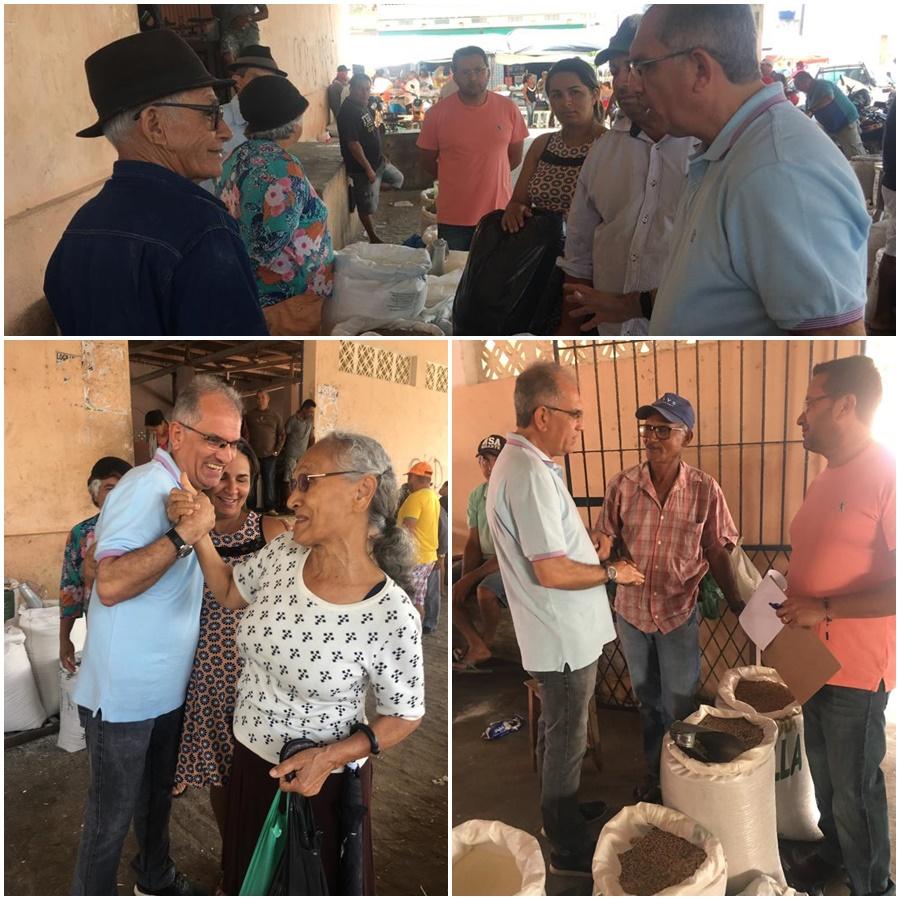 Prefeito Vital Costa visita comerciantes e anuncia início das obras de reforma do Mercado Público