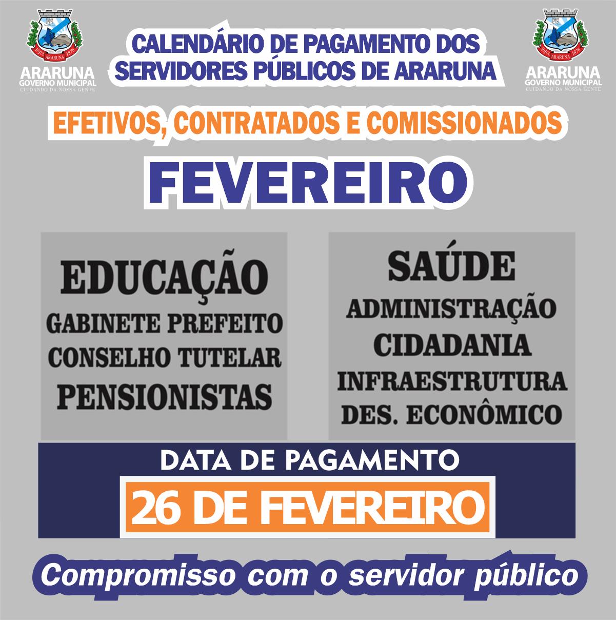 Prefeitura de Araruna efetua nesta sexta-feira (26) pagamento de todos os servidores dentro do mês trabalhado
