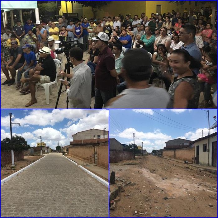 Prefeitura de Araruna entrega mais uma rua pavimentada aos ararunenses