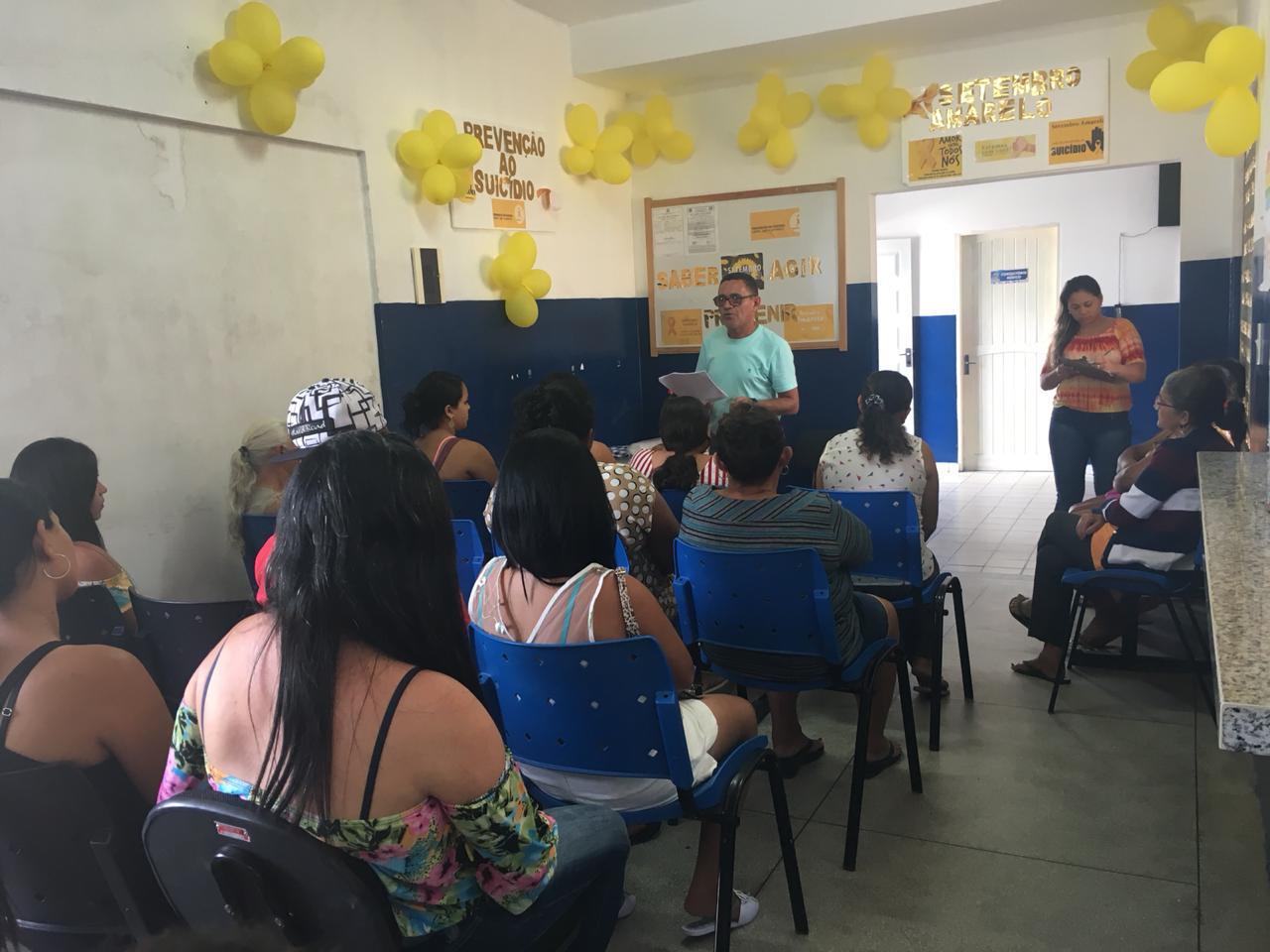 Setembro Amarelo: Secretaria de Saúde promove atividades de prevenção ao suicídio em Araruna
