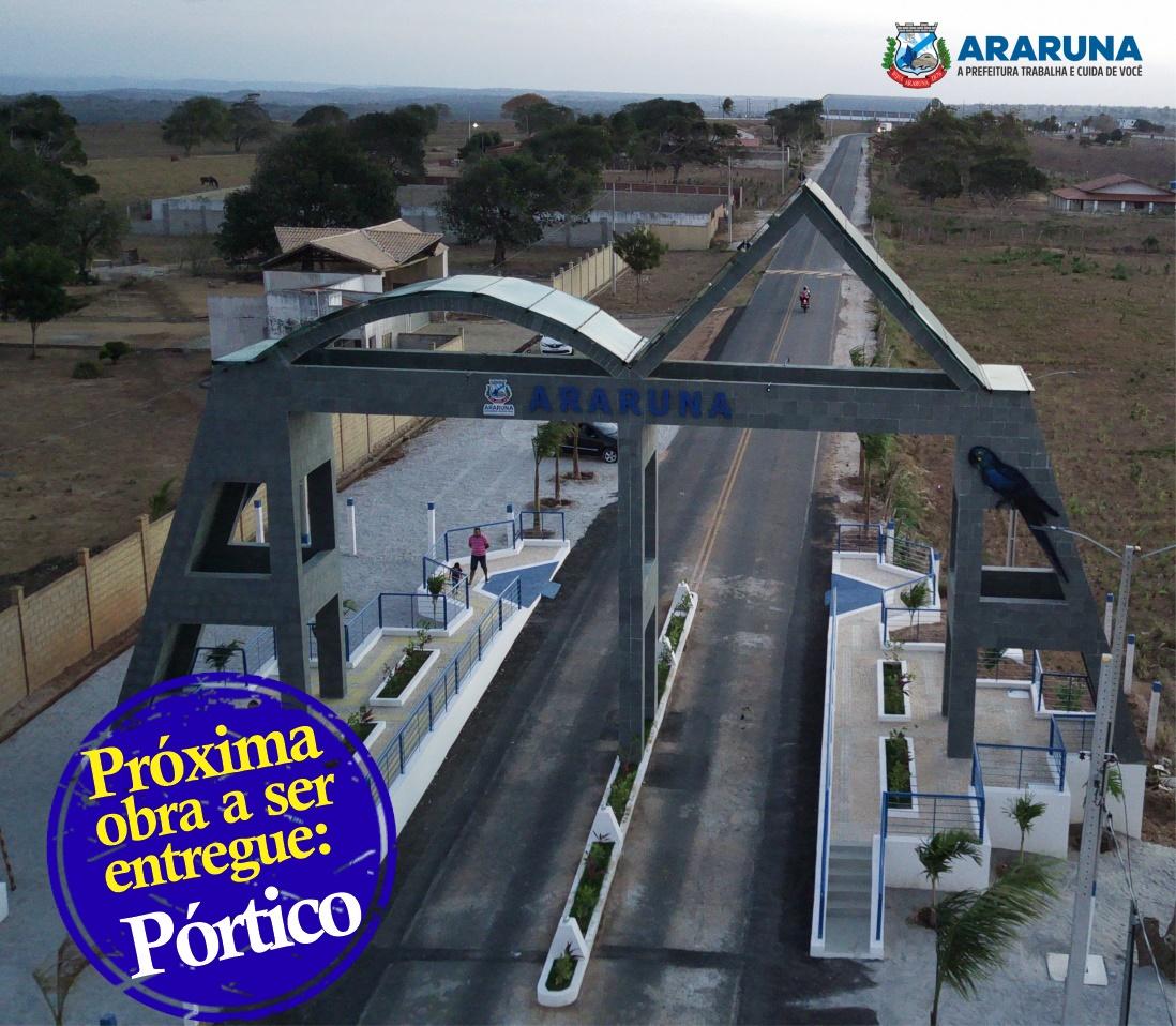 Vital Costa inaugura portal de entrada conseguido por meio de emenda do deputado Aguinaldo Ribeiro